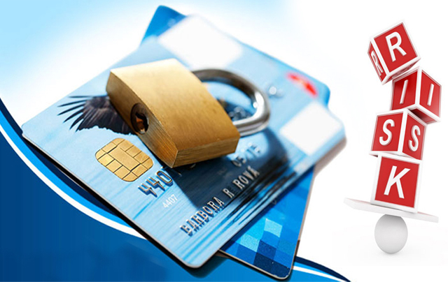 two credit cards and a lock, all symbolizing high risk payment gateway.