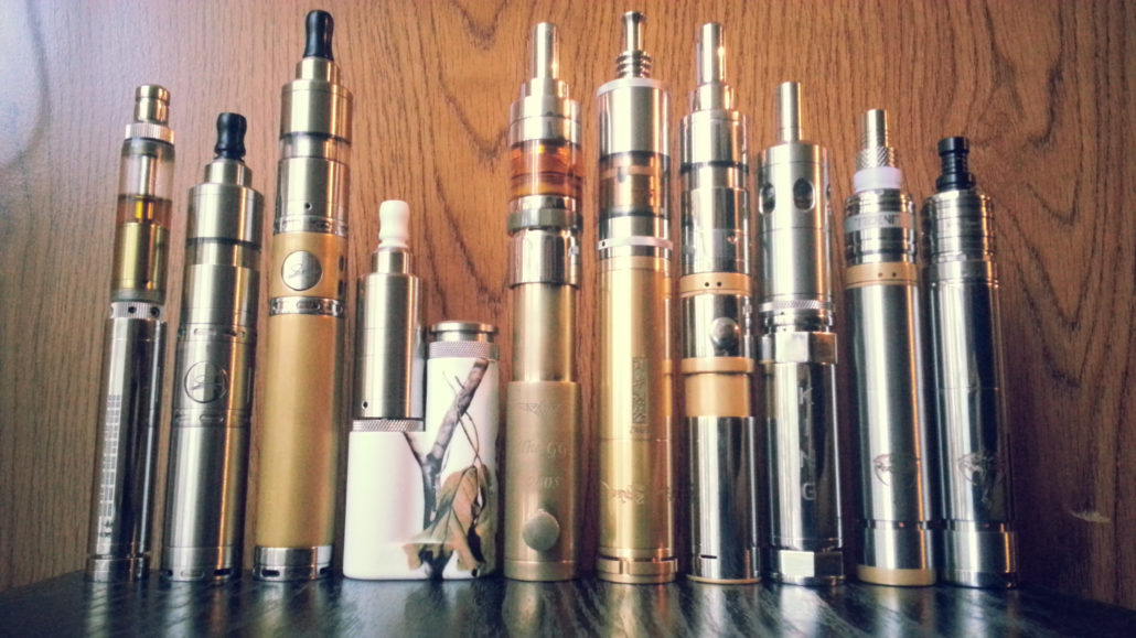 an image of an array of different types of electronic cigarettes